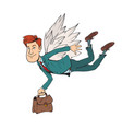 businessman is flying vector image