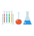 Chemistry Flasks Set vector image vector image