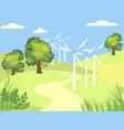 children picture art wind generator standing in vector image vector image
