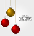 christmas balls decoration ornament color vector image vector image