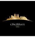 Cincinnati Ohio city skyline silhouette vector image vector image