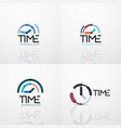 collection of abstract logo ideas time vector image vector image