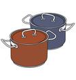Color pots vector image vector image