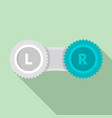 contact lens case icon flat style vector image vector image
