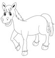 doodle animal for pony vector image vector image