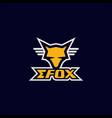 efox logo vector image