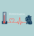 essential or primary hypertension vector image vector image