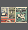 farm food products cattle and poultry farming vector image vector image