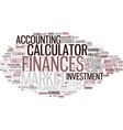 finances word cloud concept vector image vector image