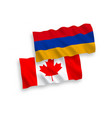 flags canada and armenia on a white background