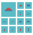 flat icons china beijing india mosque and other vector image