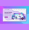 flat social media ads marketing landing page vector image