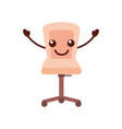 furniture armchair office wheel equipment vector image