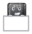 grinning with board button f12 on a keyboard vector image vector image