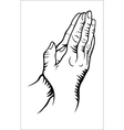 Hand praying vector image vector image