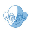 head face man character comic vector image