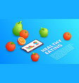 healthy eating application vector image vector image