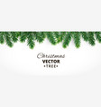 horizontal banner with christmas tree vector image vector image