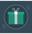 icon gift e commerce design vector image
