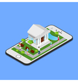 Isometric Mobile Banking Isometric Bank Mobile vector image vector image
