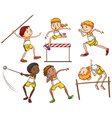 Kids engaging in outdoor activities vector image vector image