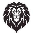 lion head logo template design vector image vector image