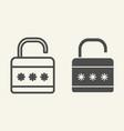 lock line and glyph icon padlock vector image