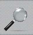 magnifying glass isolated with gradient mesh vector image vector image