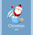 merry christmas and happy new year soft blue 3d vector image