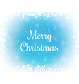 merry christmas bokeh background snow and vector image vector image