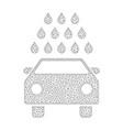 mesh car wash icon vector image vector image