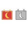 moon calendar icon set synodic month vector image vector image