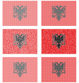 Mosaic Albania flag set vector image vector image