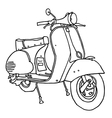 Motor scooter vector image