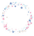 multicolored falling stars of confetti vector image