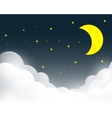 night sky background vector image