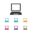 of laptop symbol on display vector image vector image