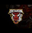 oni demon mascot sport logo design vector image vector image