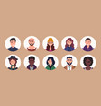 people avatar bundle set user portraits vector image