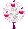 pink tree vector image vector image