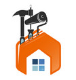 repair and service home symbol vector image vector image