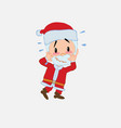 santa claus pleasantly surprised vector image vector image