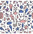 seamless pattern of innovation in doodle style vector image