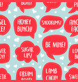 seamless pattern valentines day talk bubbles vector image vector image