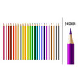 set different colored pencils with circular vector image