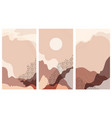 set instagram stories a abstract landscape vector image vector image