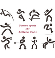 Set of athletics icons vector image vector image
