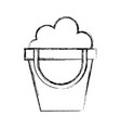 sketch draw sand jar cartoon vector image