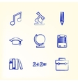 Sketch with icons for education vector image vector image
