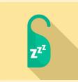 sleep hanger tag icon flat style vector image